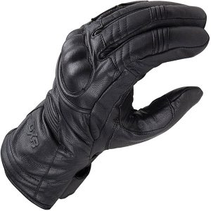Black DXR Evasion Warm Motorcycle Gloves