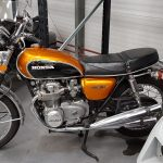 Orange Honda 500 Four at Isle of Man Motor Museum