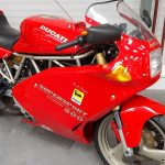 Red Ducati 600 Supersport at Isle of Man Motor Museum