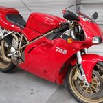 Red Ducati 748 at Isle of Man Motor Museum