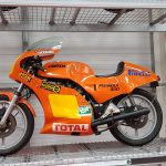 Orange Race Laverda at Isle of Man Motor Museum
