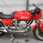 Red Moto Guzzi 830 Le Mans at Isle of Man Motor Museum