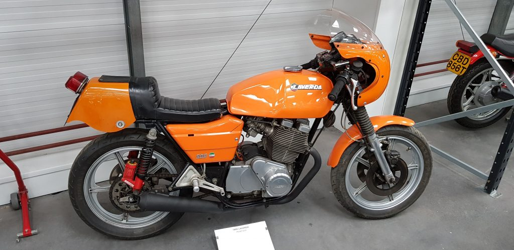 Orange Laverda at Isle of Man Motor Museum