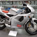 Silver Aprilia RS 125 SP at Isle of Man Motor Museum