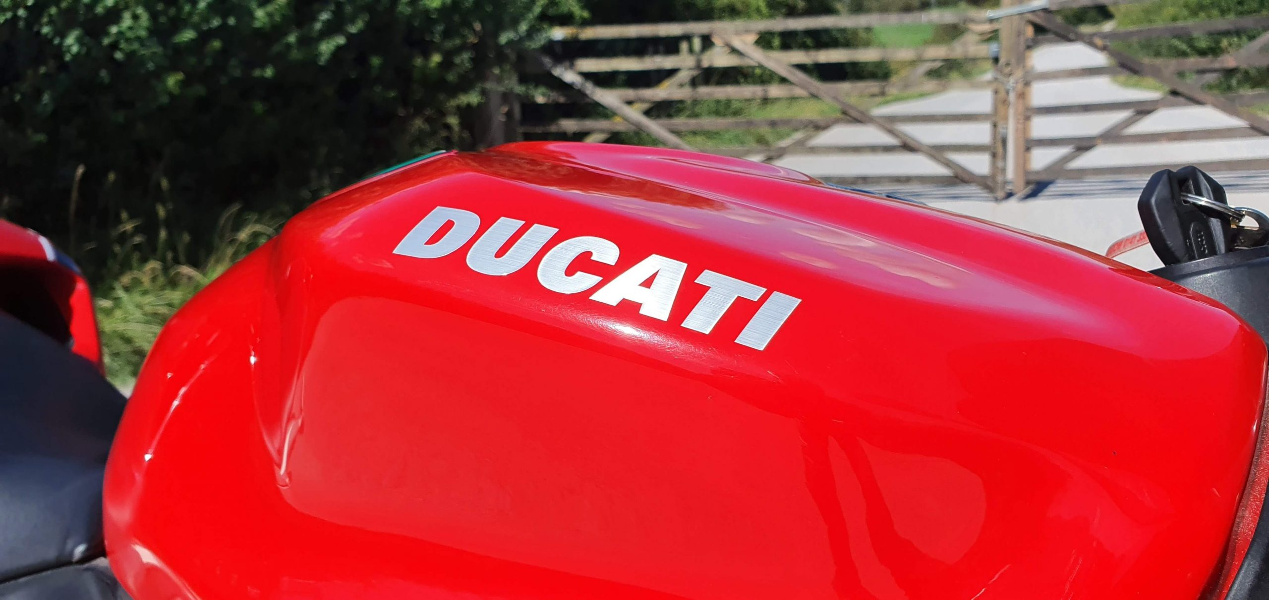 Ducati 1199 Panigale Review tank