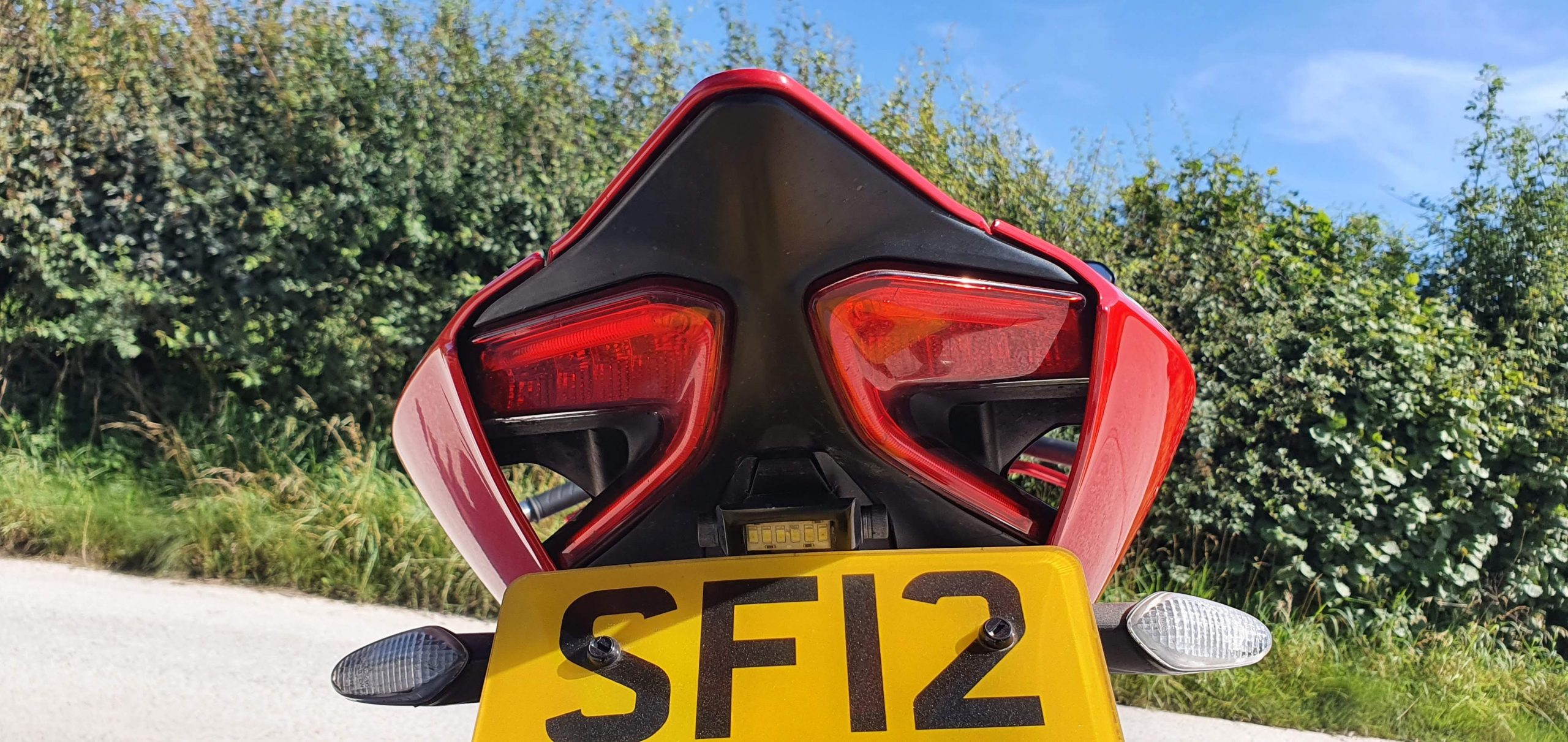 Ducati 1199 Panigale Review Tail light