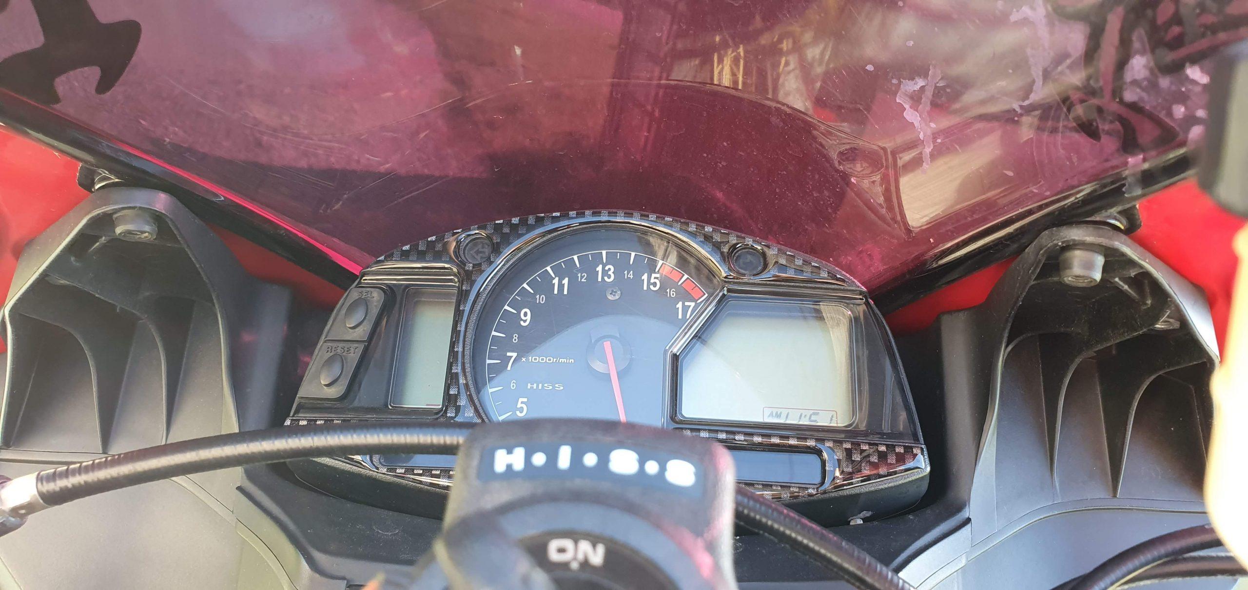 2008 Honda CBR 600 RR Review Carbon Cluster